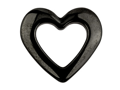 Ceramic-Heart,-Grey,-15mm