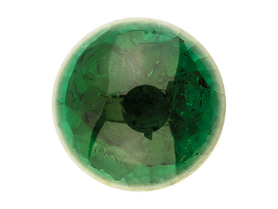 Ceramic Round Cabochon Green, 10mm, Crackle Finish