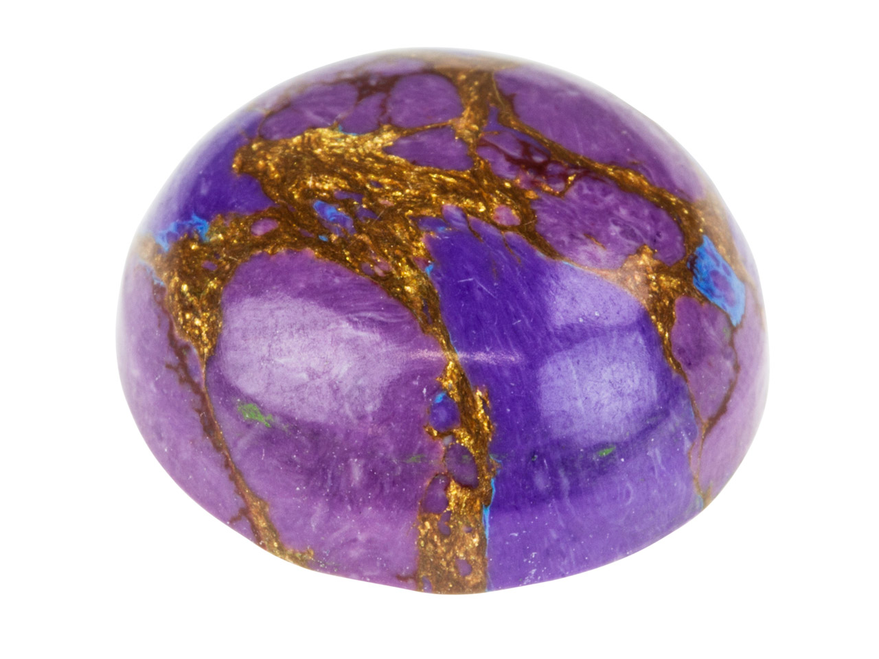 Purple Simulated Turquoise, Round  Cabochon 15mm
