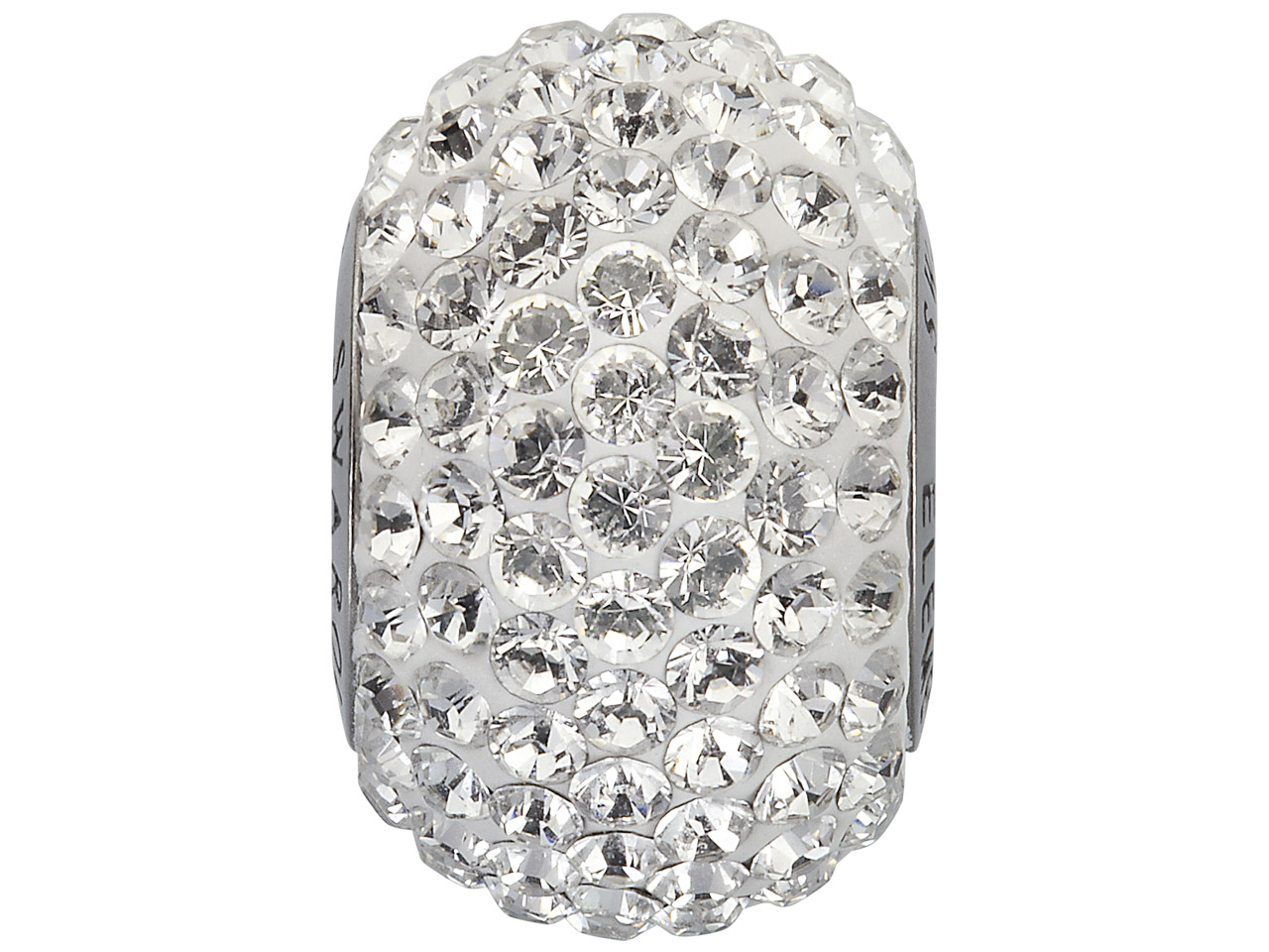Swarovski Crystal Becharmed Round  Pave Charm Bead, 80 101, 14mm,     Crystal