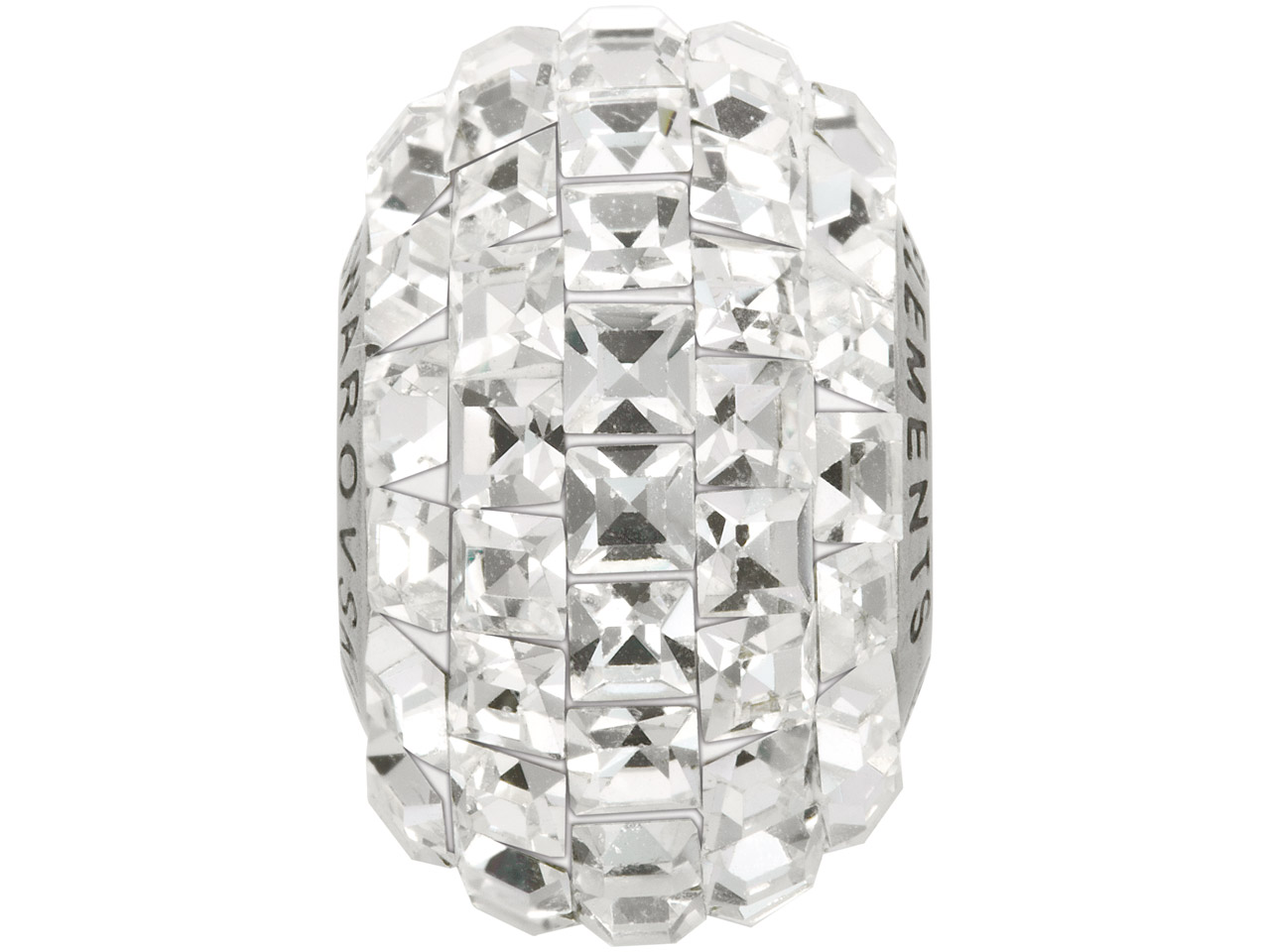 Swarovski Crystal Becharmed Square Pave Charm Bead, 80 201, 15mm,     Crystal