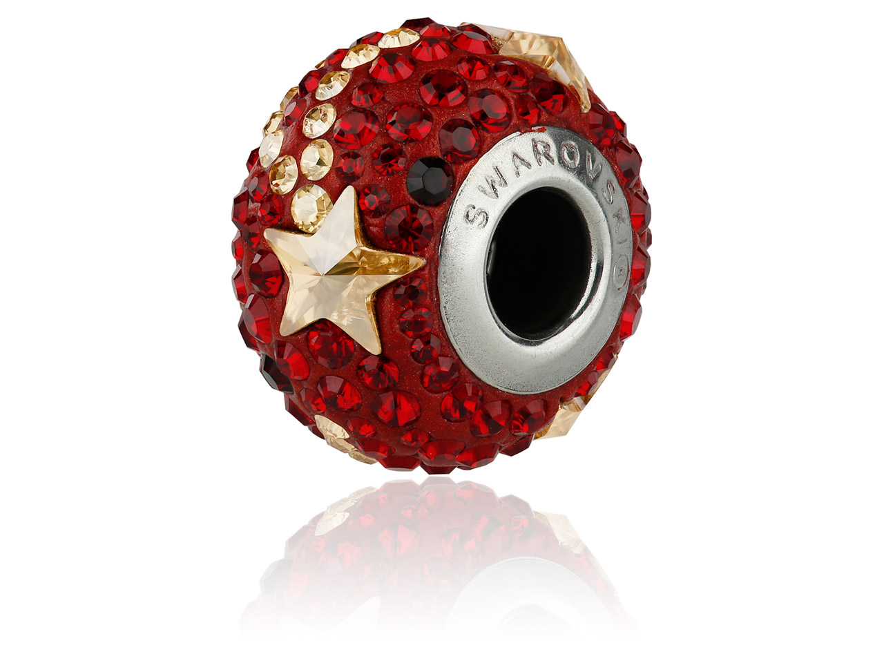 Swarovski Becharmed Pave Shooting  Star Charm Bead, Siam, 14mm,       Limited Edition