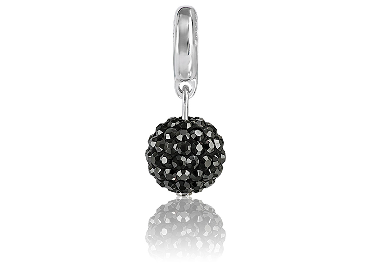 Swarovski Becharmed Pave Ball      Charm, 8mm, Jet Hematite