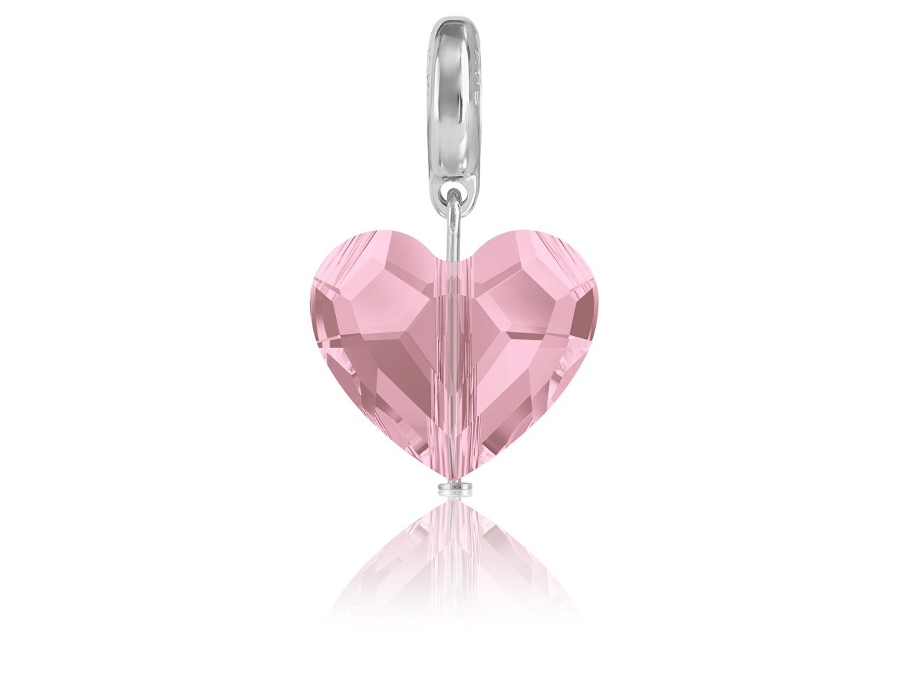 Swarovski Becharmed Crystal Love   Charm, 12mm, Crystal Antique Pink