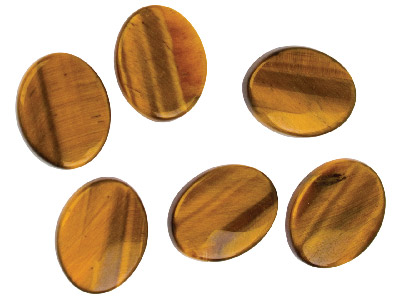 Tiger Eye Flat Oval 10x8mm