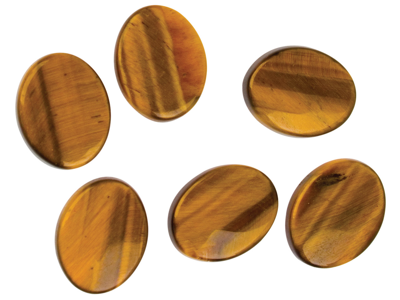 Tiger's-eye, Flat Oval, 10x8mm
