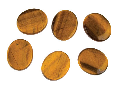 Tiger-s-eye,-Flat-Oval,-12x10mm