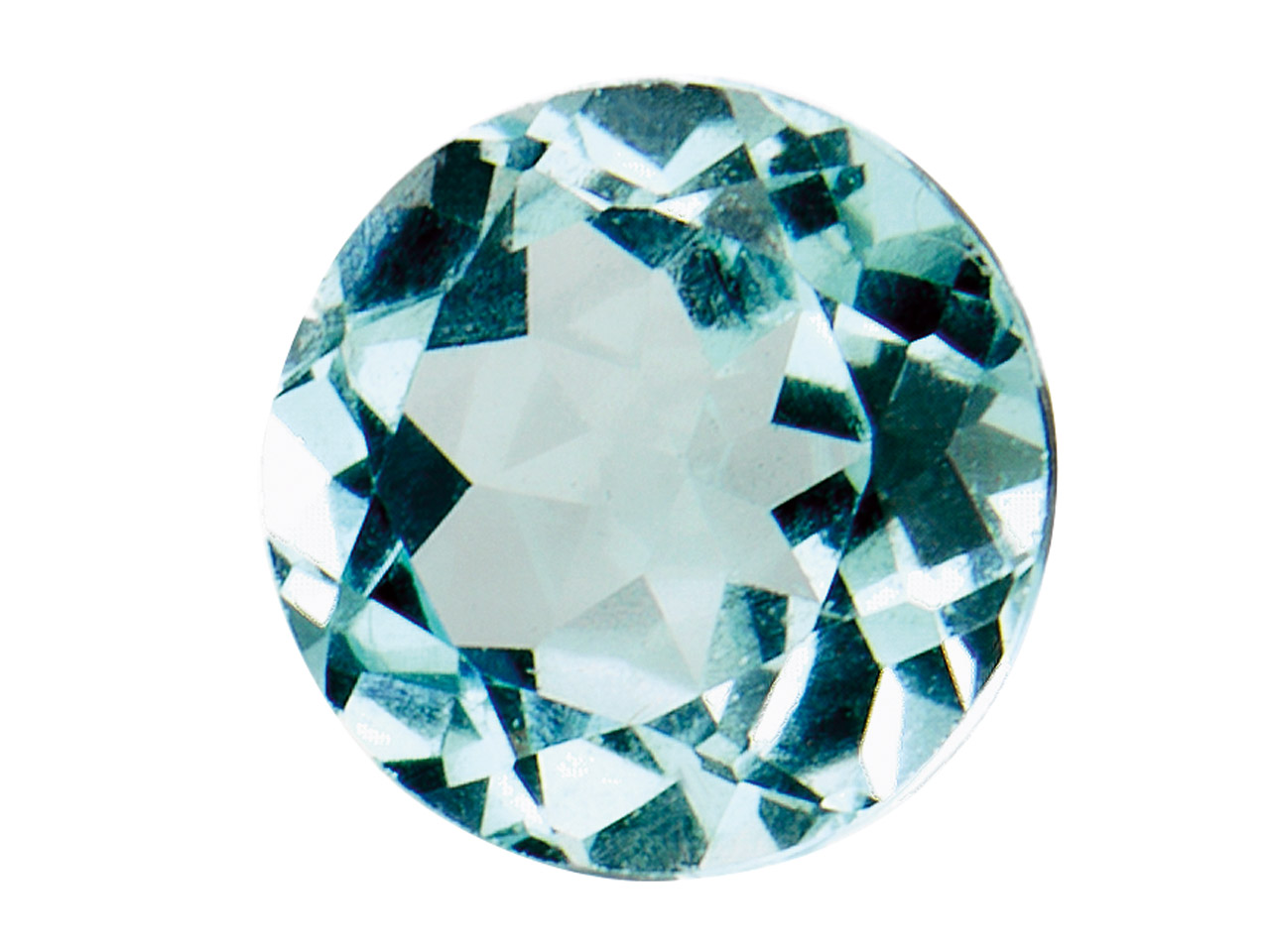 Sky Blue Topaz, Round, 4mm, Treated