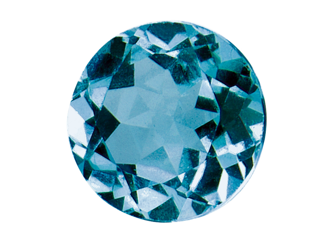 London Blue Topaz, Round, 4mm,     Treated