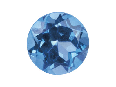 London Blue Topaz, Round, 7mm,     Treated
