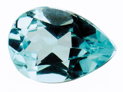 Sky Blue Topaz, Pear, 8x5mm,       Treated