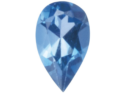 London Blue Topaz, Pear, 5x3mm,    Treated