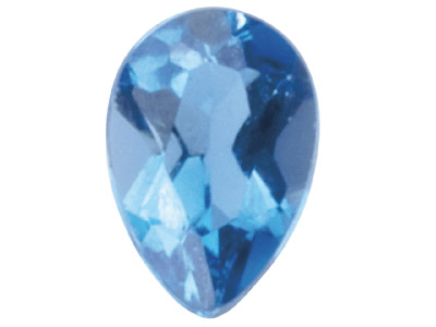 London Blue Topaz, Pear, 6x4mm,    Treated