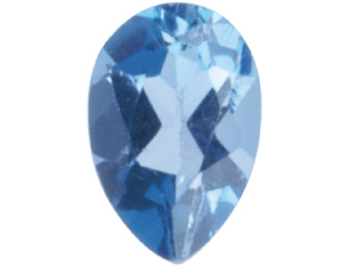 Topaz London Blue Treated Pear 7x5mm