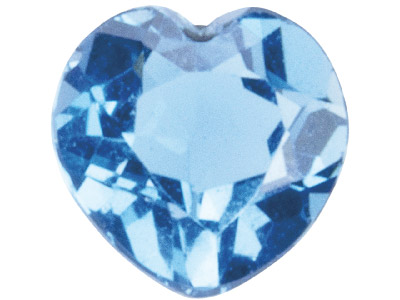 Topaz London Blue Treated Heart 5x5mm