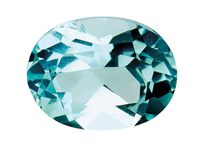 Topaz Sky Blue Treated Oval 6x4mm