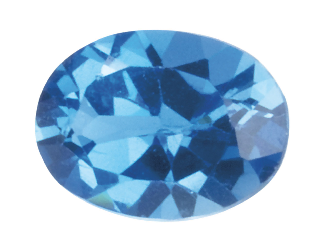 London Blue Topaz, Oval, 5x4mm,    Treated