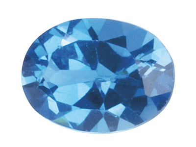 Topaz London Blue Treated Oval 6x4mm