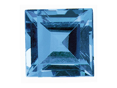 Topaz London Blue Treaded Square 4x4mm
