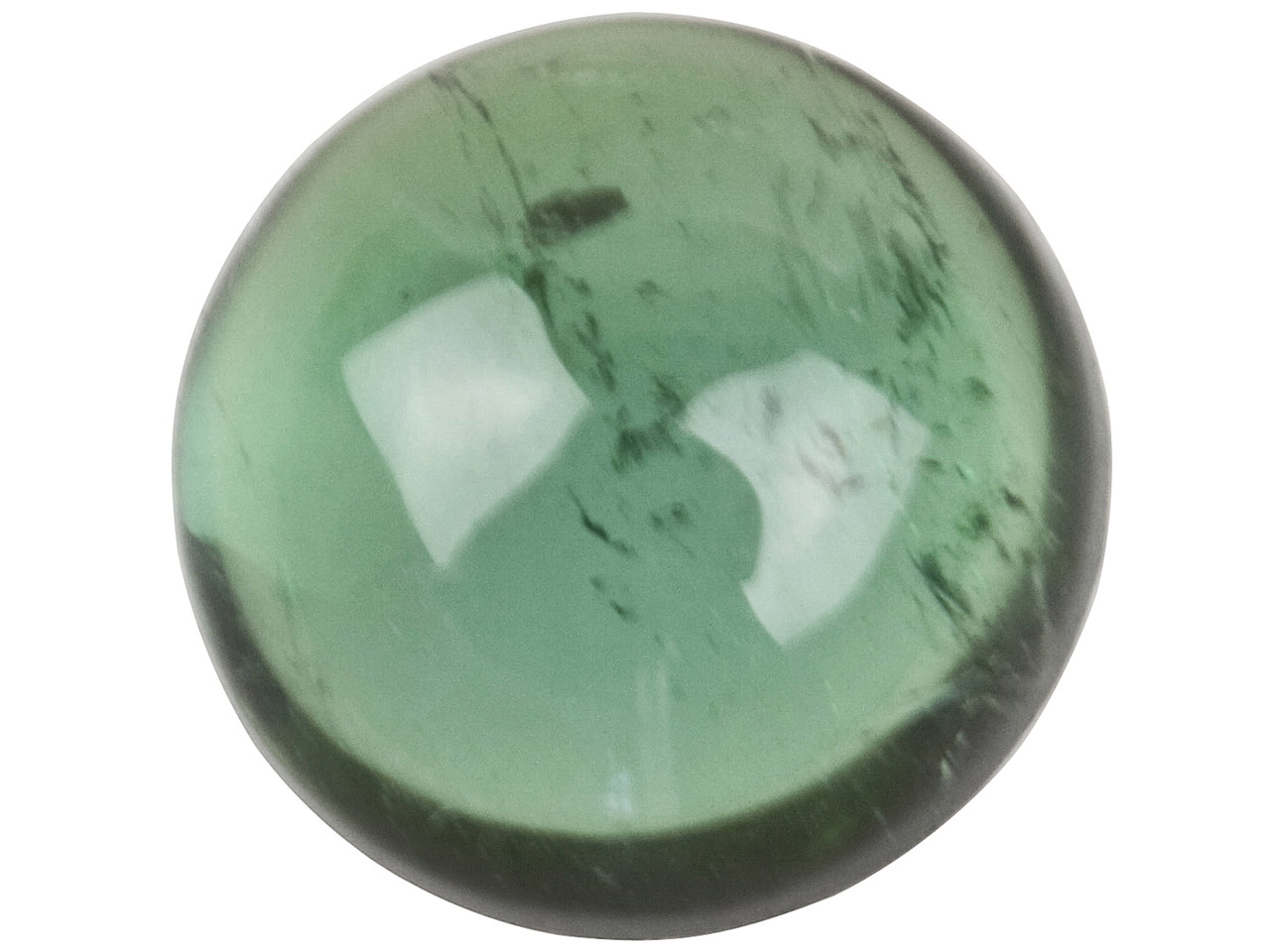 Green Tourmaline, Round Cabochon   6mm