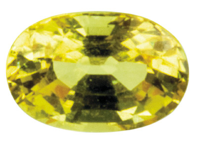 Yellow Sapphire, Oval, 6x4mm
