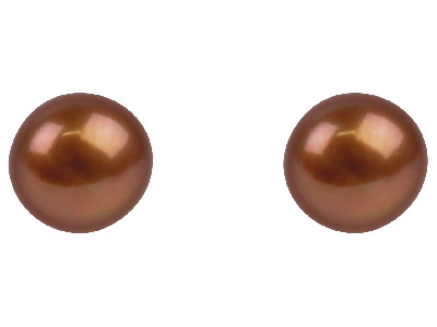 Cultured Pearl Pair 6.5-7mm Chocolate