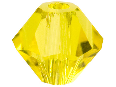 Swarovski Crystal Pack of 24 Bicone 5328 4mm Citrine