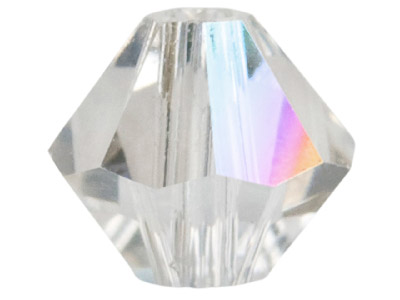 Swarovski Crystal Pack of 24 Bicone 5328 4mm Crystal Clear Ab