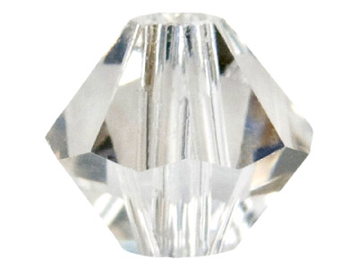 Swarovski Crystal Pack of 24 Bicone, 5328, 4mm Silver Shadow