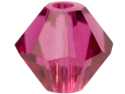 Swarovski Crystal Pack of 24       Bicone, 5328, 4mm Fuchsia