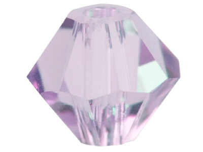 Swarovski Crystal Pack of 24       Bicone, 5328, 4mm Light Amethyst