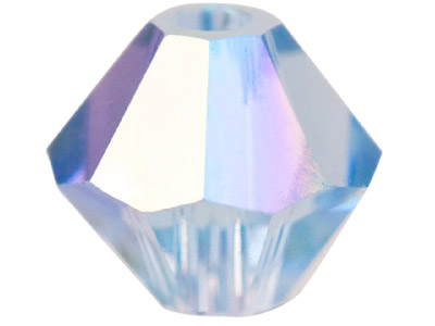 Swarovski Crystal Pack of 24 Bicone 5328 4mm Light Sapphire Ab