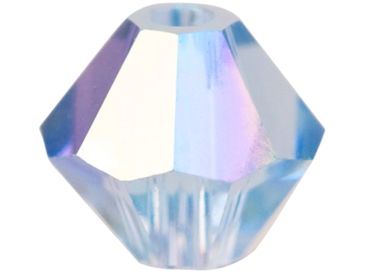 Swarovski Crystal Pack of 24        Bicone, 5328, 4mm Light Sapphire Ab