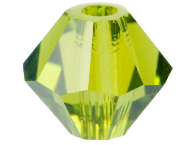 Swarovski Crystal Pack of 24 Bicone 5328 4mm Olivine