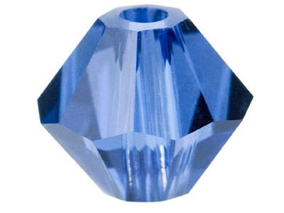 Swarovski Crystal Pack of 24 Bicone 5328 4mm Sapphire Satin