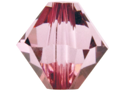 Swarovski Crystal Pack of 24       Bicone, 5328, 4mm Antique Pink