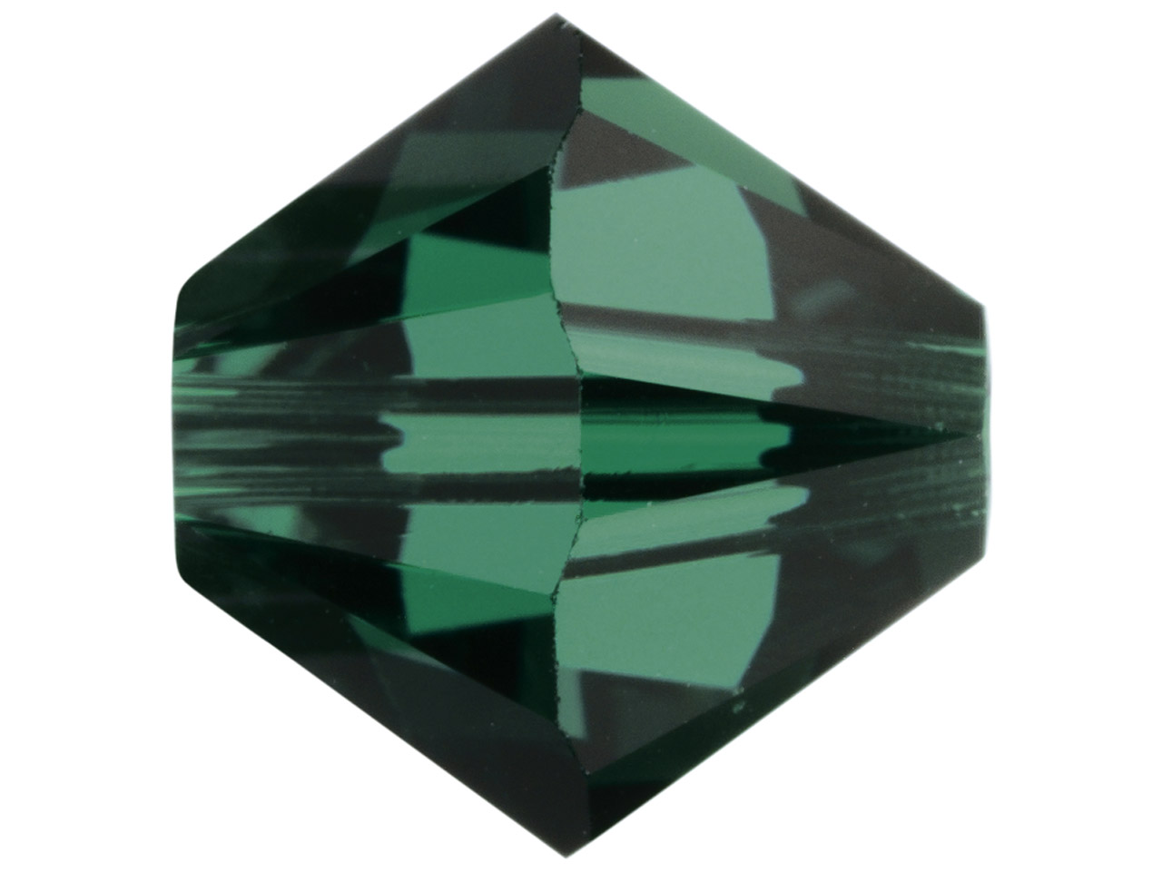 Swarovski Crystal Pack of 24 Bicone 5328, 4mm, Emerald