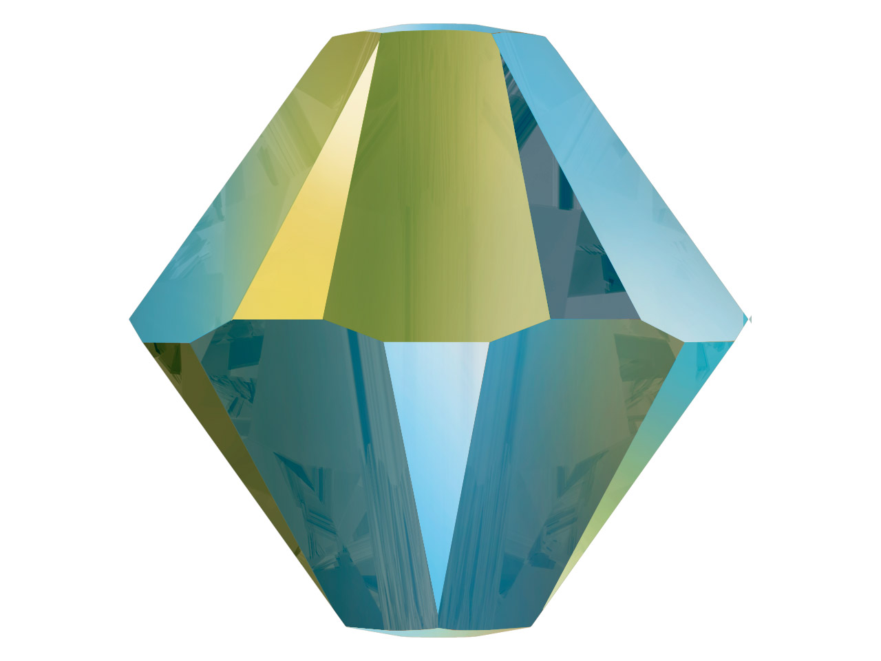 Swarovski Crystal Pack of 24       Bicone, 5328, 4mm, Crystal         Iridescent Green