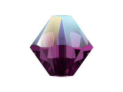 Swarovski Pack of 24 Bicone, 5328, 4mm, Amethyst Shimmer