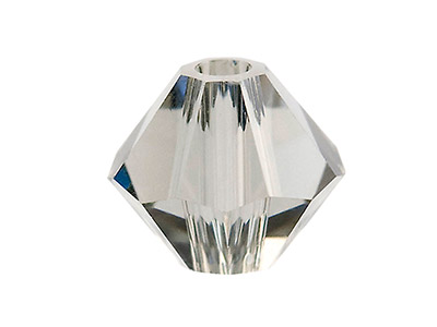 Swarovski Crystal Pack of 12,      Bicone, 5328, 6mm Black Diamond