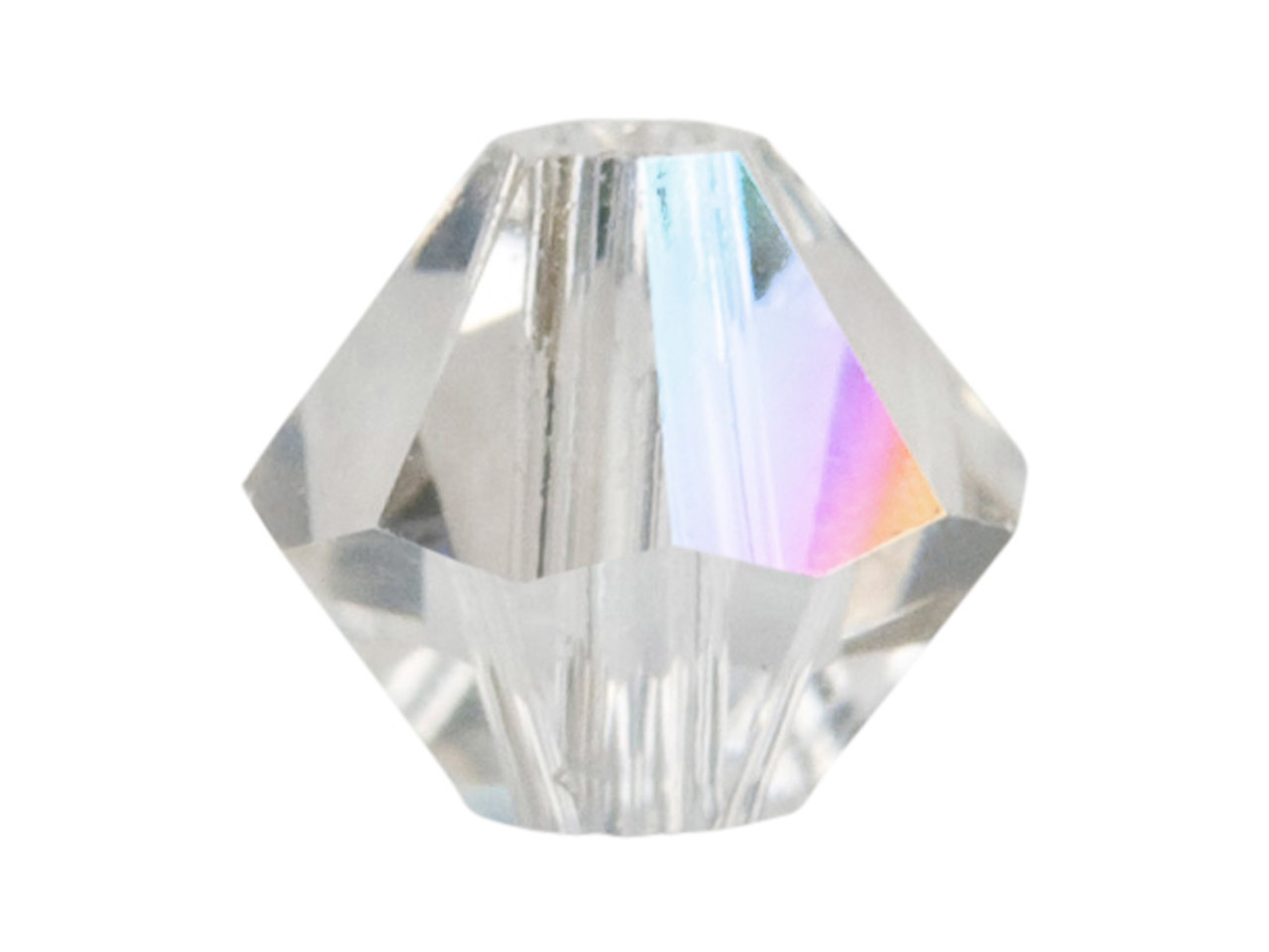 Swarovski Crystal Pack of 12,      Bicone, 5328, 6mm, Crystal Ab