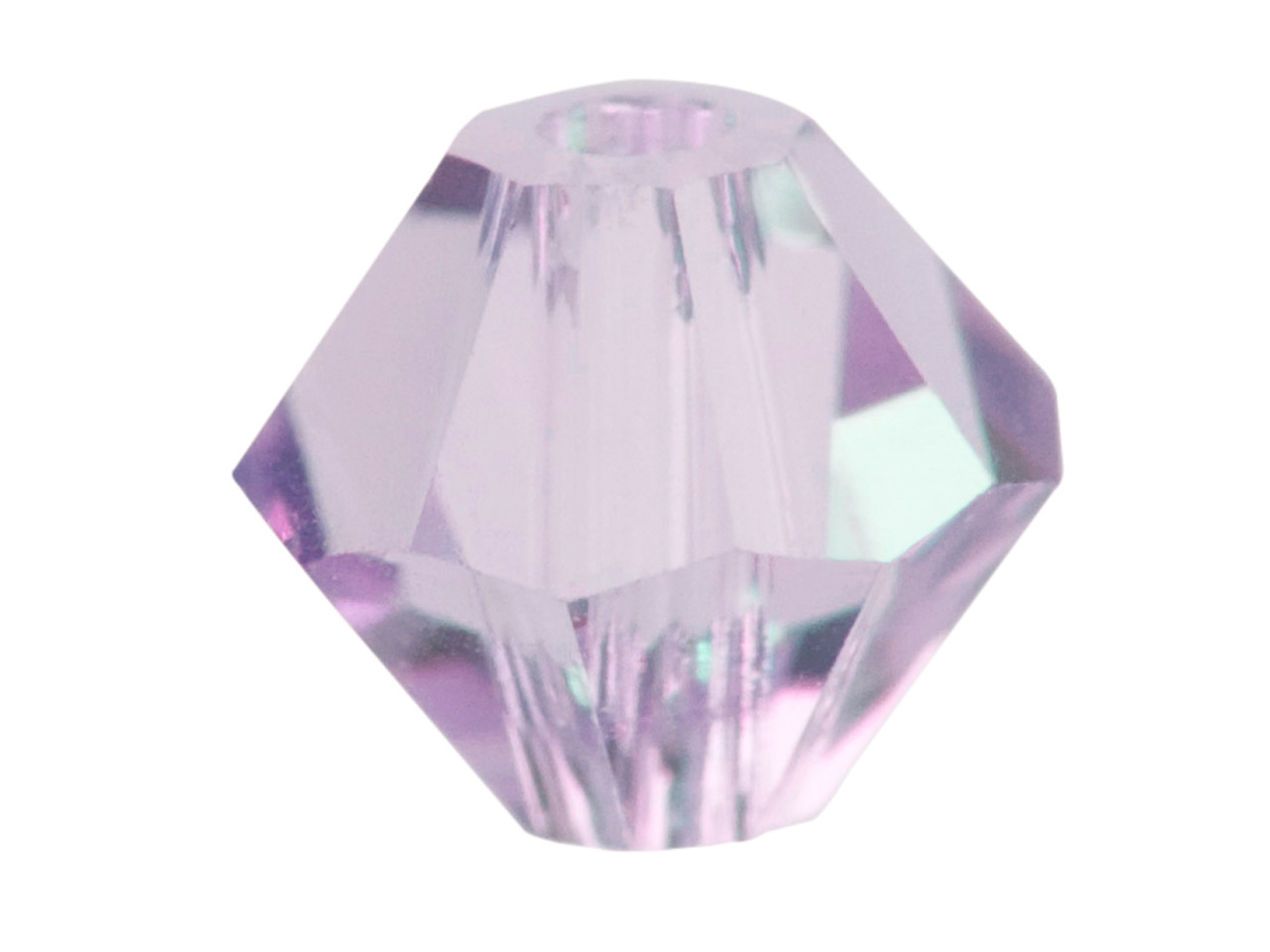 Swarovski Crystal Pack of 12,      Bicone, 5328, 6mm Light Amethyst