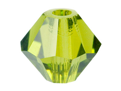 Swarovski Crystal Pack of 12,      Bicone, 5328, 6mm Olivine