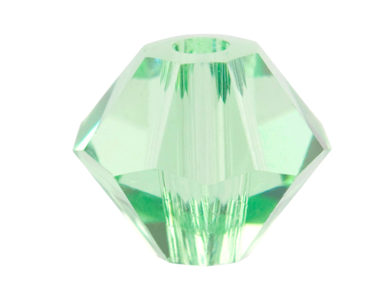 Swarovski Crystal Pack of 12,      Bicone, 5328, 6mm Peridot