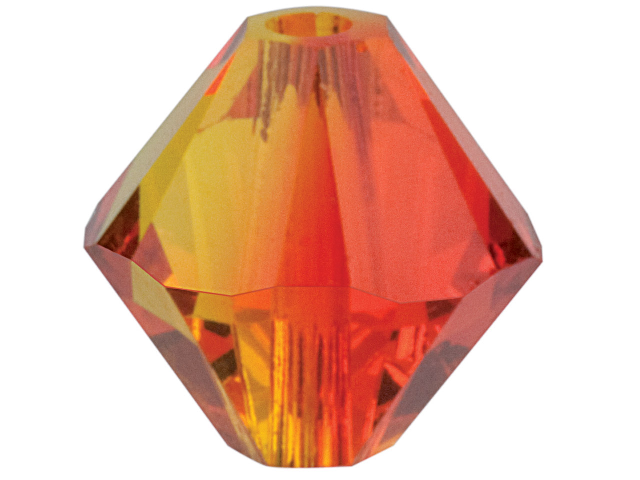 Swarovski Crystal Pack of 12,      Bicone, 5328, 6mm Fire Opal