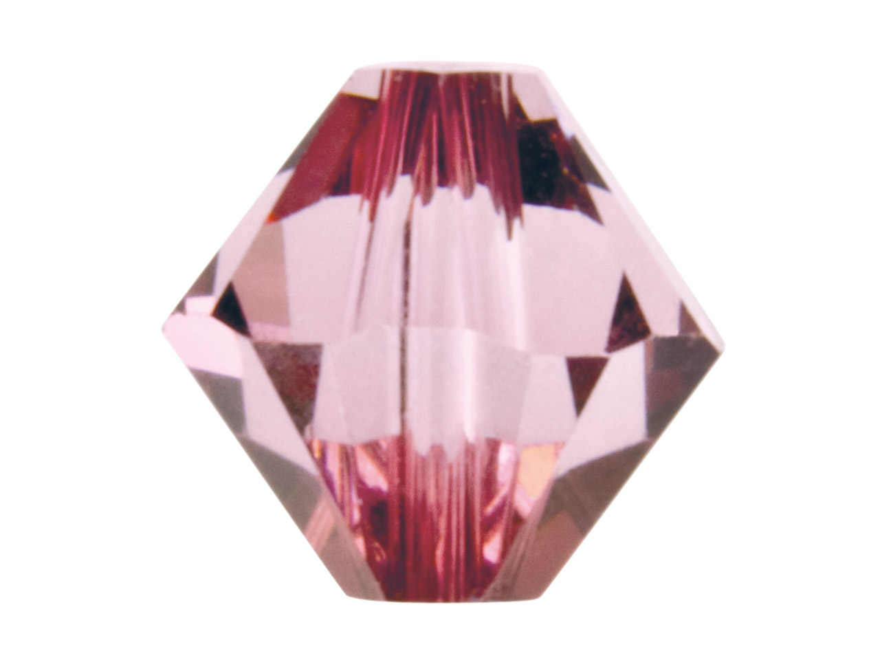 Swarovski Crystal Pack of 12,      Bicone, 5328, 6mm Antique Pink