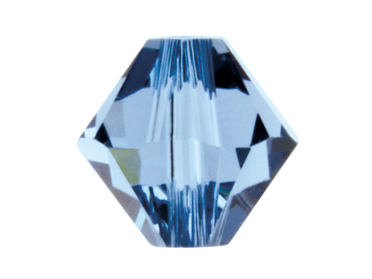 Swarovski Crystal Pack of 12,      Bicone, 5328, 6mm Denim Blue