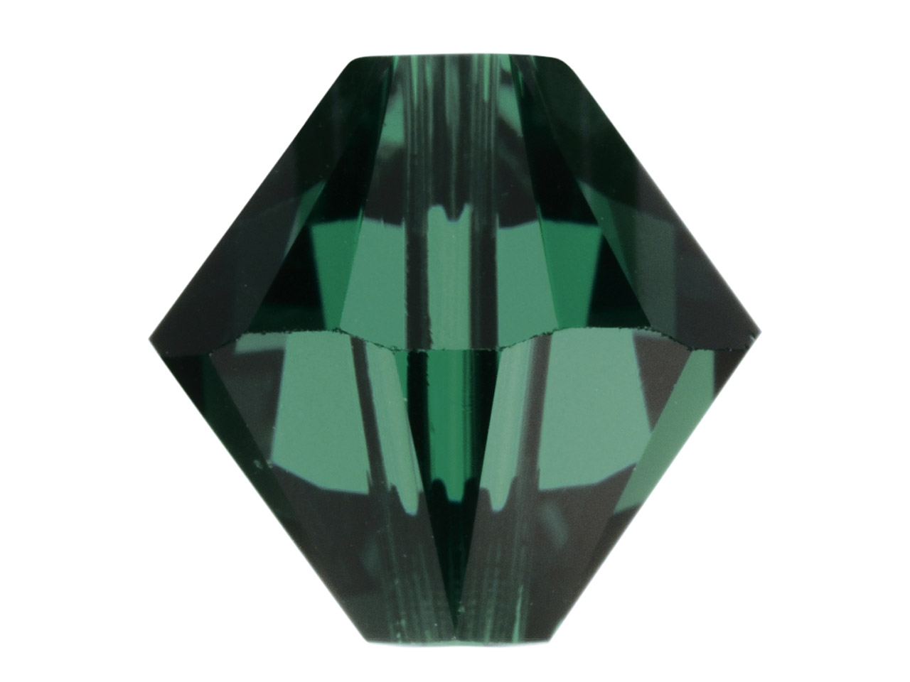 Swarovski Crystal Pack of 12,      Bicone 5328, 6mm, Emerald