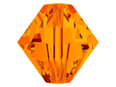 Swarovski Crystal Pack of 12,      Bicone, 5328, 6mm, Tangerine