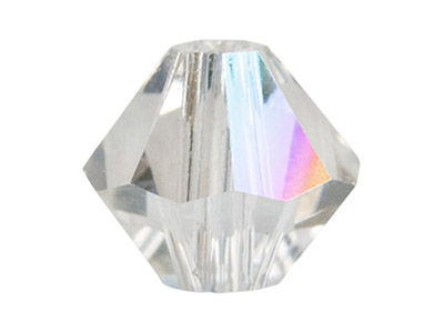 Swarovski Crystal Pack Of 6 Bicone 5328 8mm Crystal Clear Ab